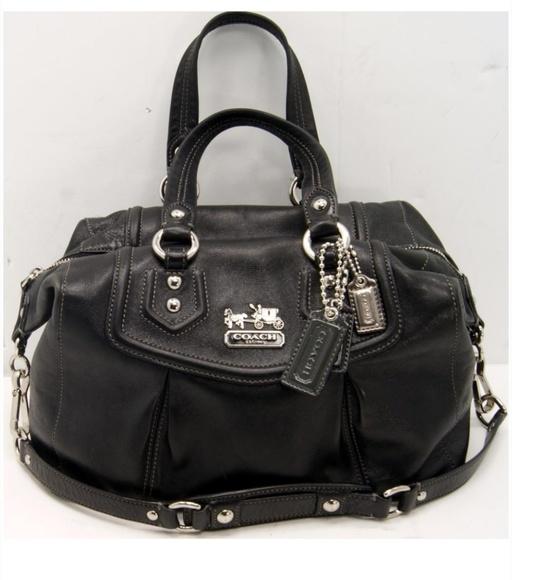Coach Handbags - 💜Coach Madison Sabrina Black Leather Bag. df8974375c6f1